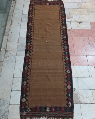 Very old Varmin Sofreh of bride Kilim with natural camel-hair-field ,need to repair price:SOLD