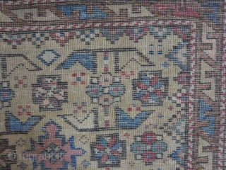 A very old Shirvan rug size:142 x 105 it was repaired price:POR SOLD