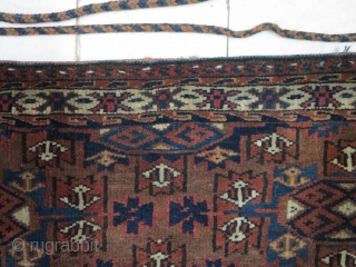 Tourkmen Chuval wool on wool size:42 x 88 price:SOLD