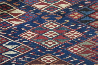 A very old Miyaneh Shahsavan Mafrash sumac with great design wool on wool natural color price:SOLD
