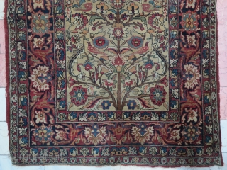 A very old Kerman ( Kerman of Shahi ) with great design age : about 180 years old  size: 202 x 128 cm price: POR