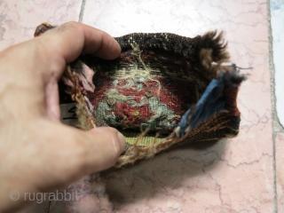 A very old Shahsavan small Chanteh sumac size: 17 x 17 cm price:POR