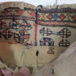 Very old fragment Shahsavan Toubreh ( bag ) shirakipich technique all wool size: 30 x 29 cm price : POR