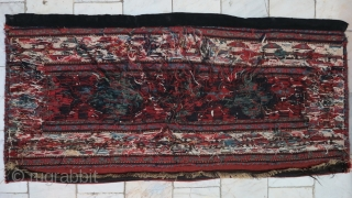 a beautiful Gheydar Shahsavan Mafrash panel Soumac wool on wool age:120 years, size:53 x 107 price:SOLD