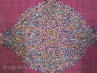 Kerman Pateh textile silk and wool size: 60 x 45 cm price : POR