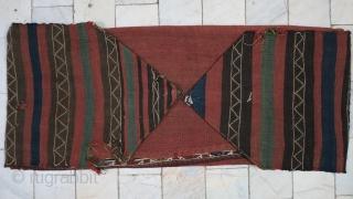 a beautiful Gheydar Shahsavan Mafrash Soumac wool on wool size: 51 x 118 x 40 cm age: about 120 years old.SOLD SOLD