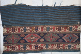 Hamamlou Shahsavan mafrash panel Sumac wool on wool natural color size: 65 x 113 age: about 120 years old price:POR