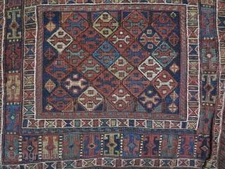 Shahsavan Saddlebag Soumac Natural Color Age About 120 Years  147 x 55 Wool & Wool Sold