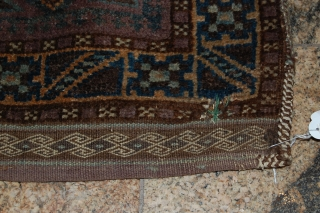 A semi-antique Baluch DONKEY BEG. FOR MORE INFORMATIONS, PLEASE CONTACT ME