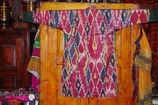a fabulous ikat chapan from uzbekistan.
