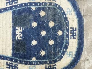 Tibet, Saddle rug. Size:63 x 130 cm Condition: Good Condition.