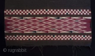 """Chamarro, ceremonial serape used in the cofradia in Santo Tomas Chichicastenango. These are very rare and haven't been made since the 1950s. See """"Maya Textiles of Guatemala: The Eisen Collection of 1902""""  ..."""