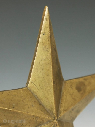 Star-shaped staff finial,
