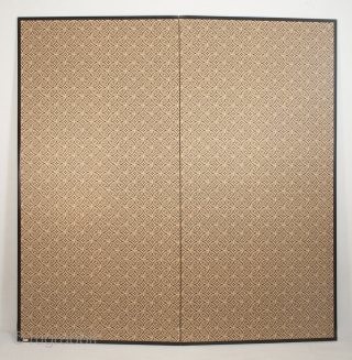 """Silver screen, Japan. Paper, wood. 68"""" (172.7 cm) high by 66"""" (167.6 cm) wide. Late 19th to early 20th century"""