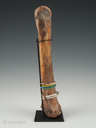 """Bone doll, Fali tribe, Cameroon or Chad. Bone, beads, 9.5"""" (24 cm) high, Early to mid 20th century"""