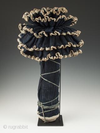 "Pleated skirt, Miao, China. Cotton, indigo. 19"" (48.2 cm) high, Mid 20th century."