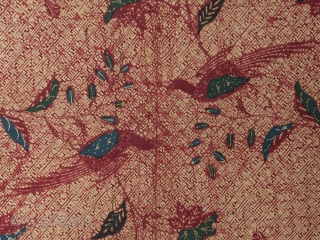 "Batik, North Coast, Java, Cotton. 33.5"" (85 cm) wide by 85"" (215.5 cm) long. Pre-1960. There is no damage, other than a few pinholes and a quarter inch tear on selvage. The  ..."