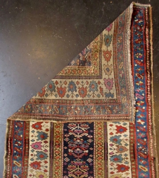 Antique Hand-Woven Caucasian Talish Azeri Runner Rug  Antique Caucasian Talish Azeri runner carpet. The Talish carpet received its name from large region stretched along the Talish mountains, by the coast of the Caspian  ...