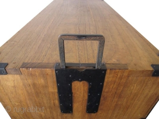 Antique Japanese Kasane Tansu (Stacking Chest on Chest) Kirinoki Meiji