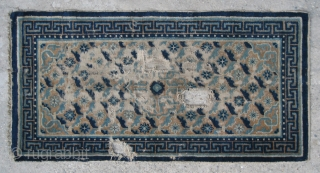 No.A0057 * Chinese Ningxia Rug(Fragments), Age:Late-18th Century.