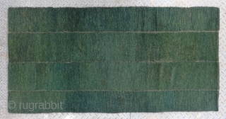 """No.R038 * Tibetan Antique Rug ,Age: Late 19th Century Size: 76x156cm(2'6""""x5'1""""). Origin: Tibetan.Shape: Rectangle. Background Color: Greens , This is a great Tibetan looped bedding rug. It was constructed by nomadic Tibetans  ..."""
