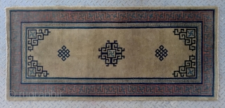 """No.R005 * Chinese Antique Old Beijing Rug.Age:Early 20th Century.Size: 73x160cm(29""""x63"""").Origin: Beijing. Shape: Rectangle. Background Color: Camels,"""