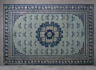 No.CL027 * Chinese Antique Ningxia Carpet ,Origin: Niningxia. Age: Late 18th/Early 19th Century.