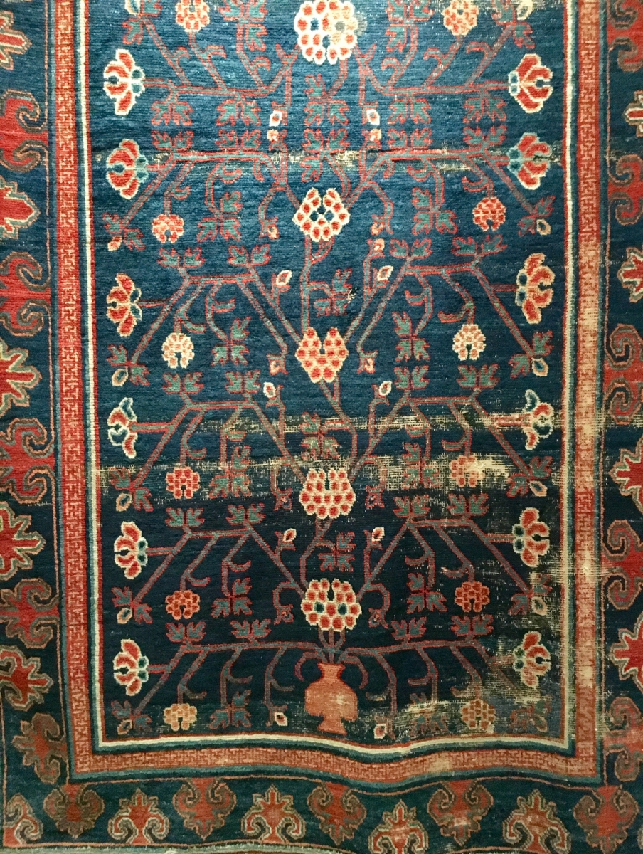 Khotan carpet, Sotheby's London: Nov 7, 2017 Rugs and Carpets including pieces from the Christopher Alexander Collection
