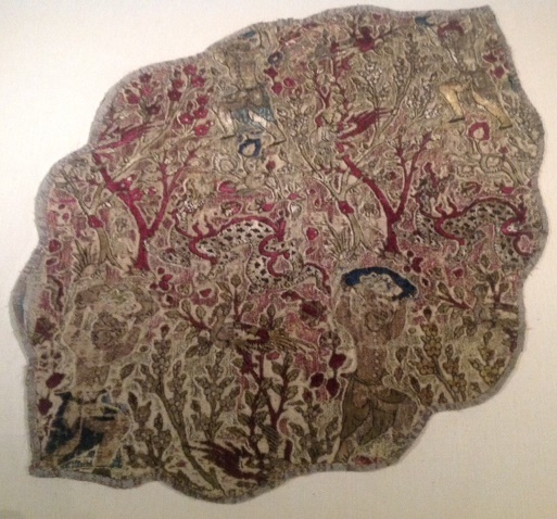 Safavid Persian velvet textile with silk and metal thread, Gulbenkian museum