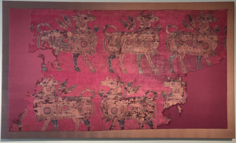 Sogdian silk textile, Francesca Galloway