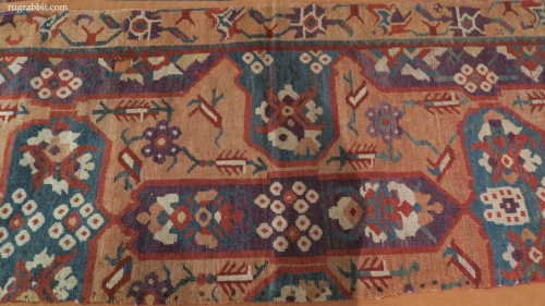 Rugs from the Christopher Alexander Collection at Sotheby's: fragments from a long Karapinar carpet