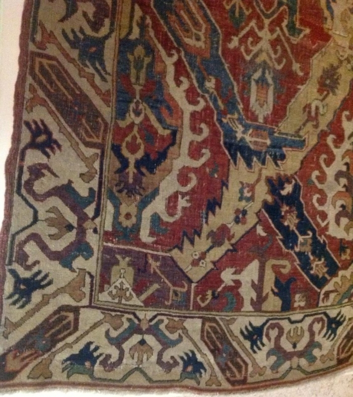 Caucasian Dragon carpet, Safavid era, 17th century, Gulbenkian Museum