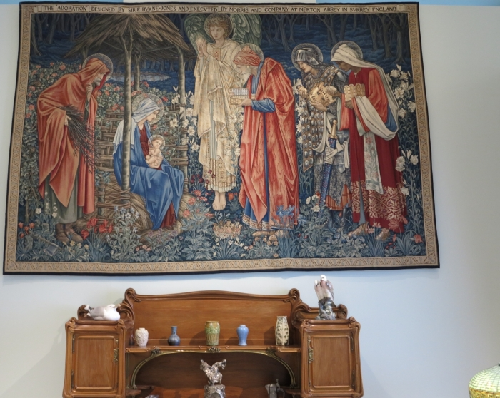 """The Adoration"" Morris and Company tapestry designed by E. Byrne-Jones"