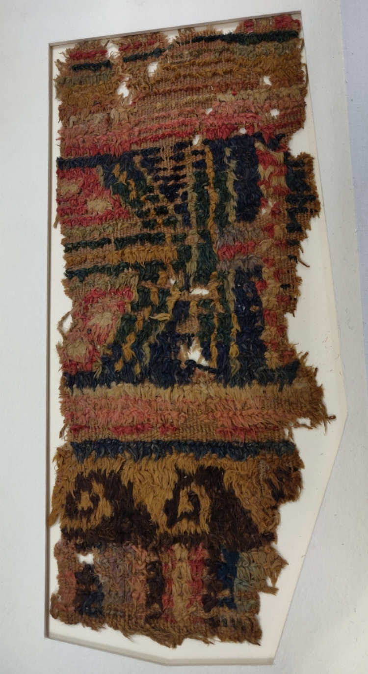 Hali Magazine: V&A Textiles at Blythe House, London, Aurel Stein carpet frgment from Loulan, circa 1st century BCE