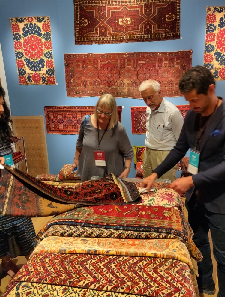 Turkmen trappings with Amin Motamedi at Hali Fair, 2019
