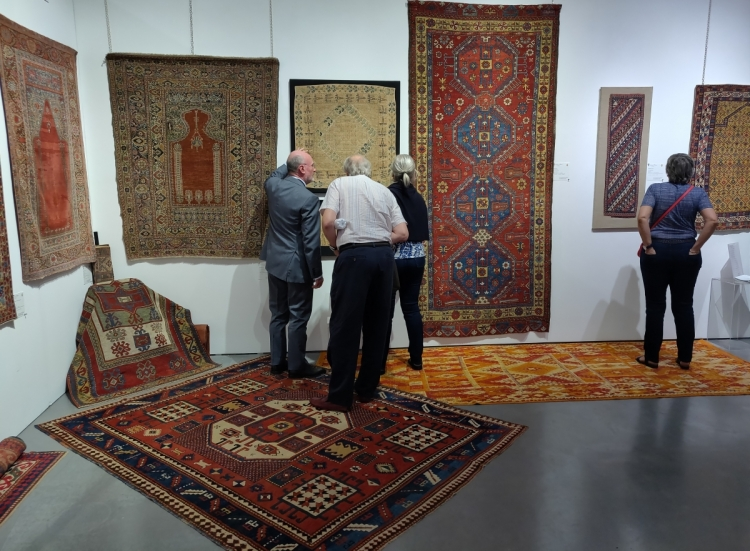 Multiple Transylvanian prayer rugs with Lombardo & Partners (Antique) at Hali Fair 2019, London