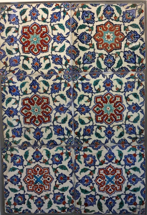 Ottoman Iznik Tiles, Benaki Museum of Islamic Art, athens