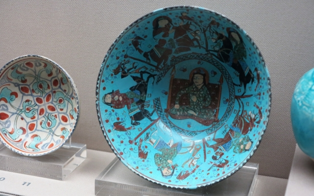 Kashan plate, Benaki Museum of Islamic Art