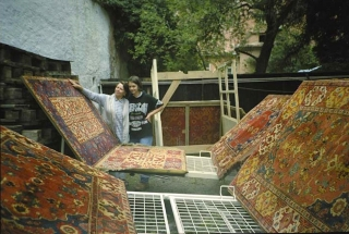 transporting the rugs for washing, Brasov