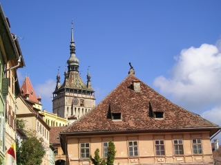 Sighisoara city skyline
