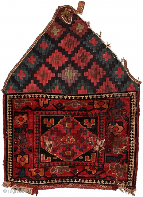 Pile khorjin recycled as saddle rug