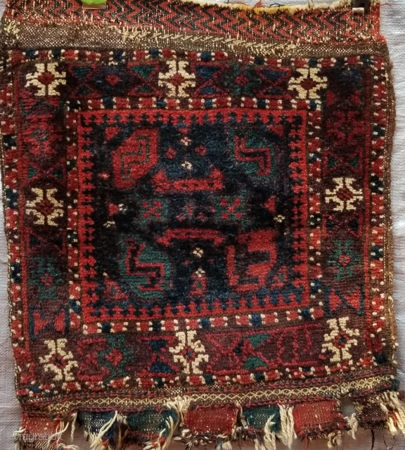 """Small Boluch bagface all natural colors soft velvety wool size 15""""x17"""""""