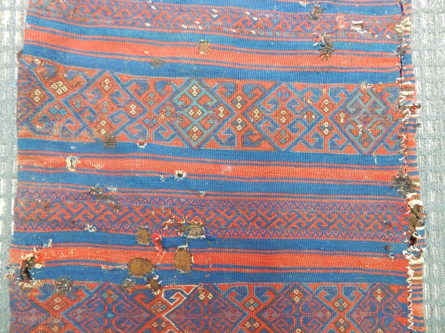 Antique West Anatolian Yuncu Chuval  Kilim