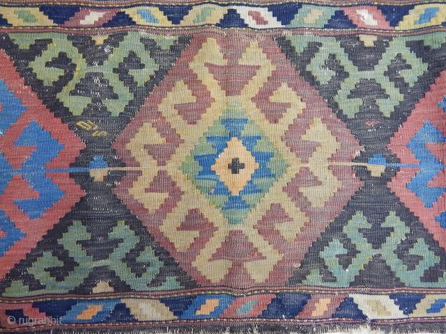 Antique Caucasian Sirvan Kilim