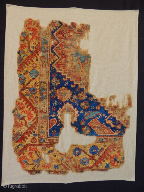 Antique West Anatolian Kula Rug Fragment