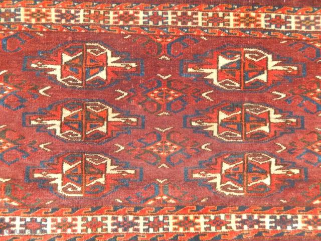 Antique Turkmen Ymaut Chuval Rug