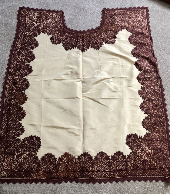 Antique 19 c Cretan  barbers apron size 105 x 95 cm