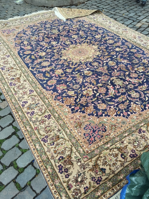 Old Turkish Kayseri carpet in perfect condition about 12 X 8 feet  floor ready hardly even dirty Great for antique wash