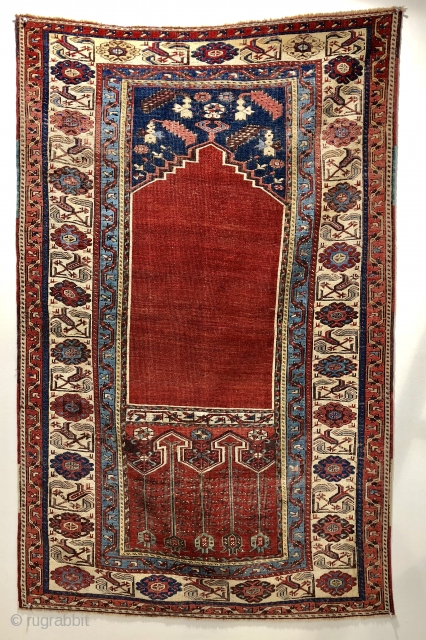 Super antique Turkish Ladik prayer rug ca 1800 Wall ready remarkably good condition for the age  178 x 113 cm
