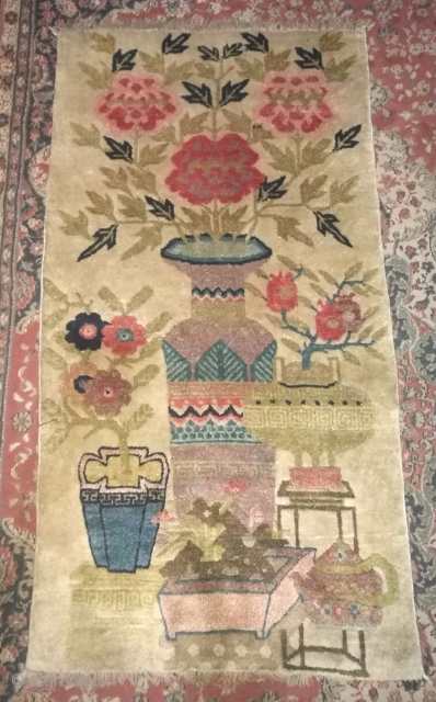 Antique Chinese hanging rug.